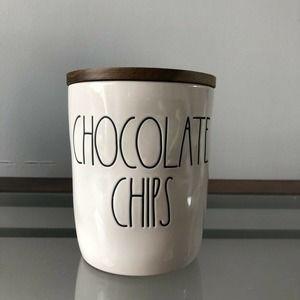 """Rae Dunn Chocolate Chips Cellar  5"""" Tall"""